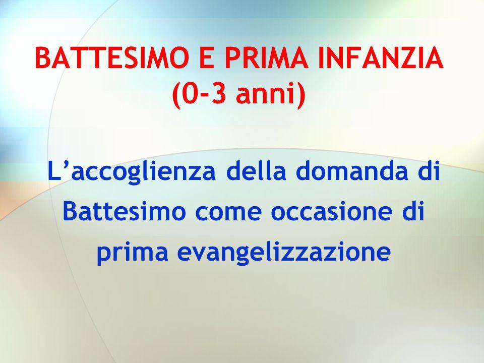 BATTESIMO E PRIMA INFANZIA (0-3 anni)