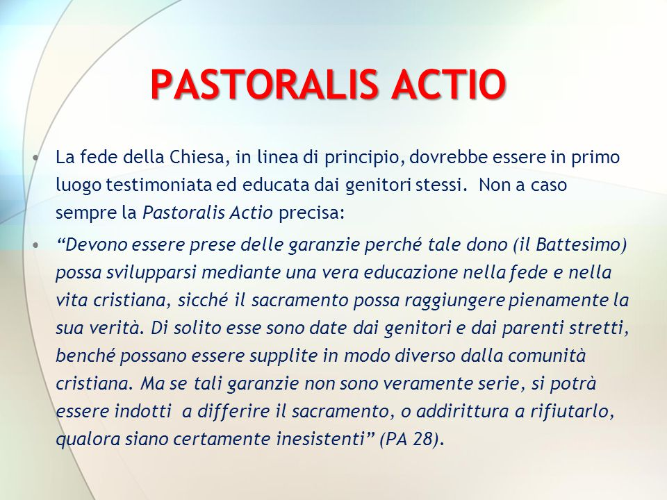 PASTORALIS ACTIO