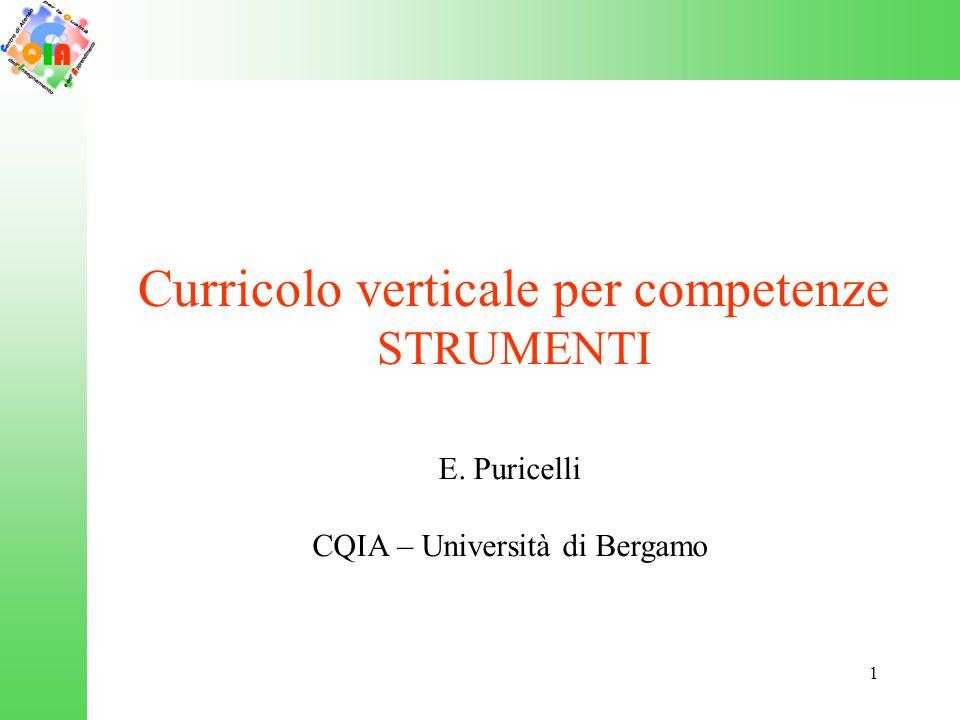 Curricolo verticale per competenze