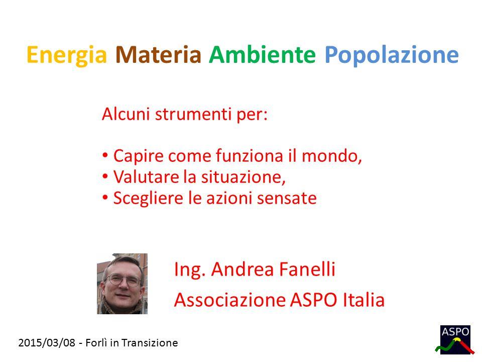 Energia Materia Ambiente Popolazione