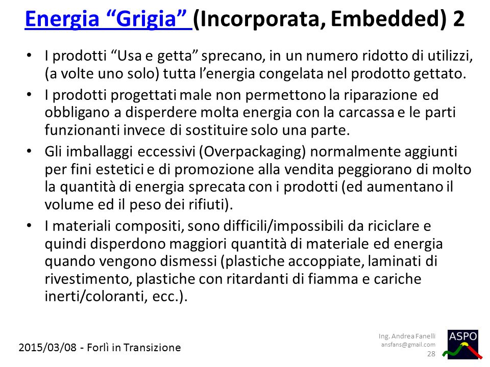 Energia Grigia (Incorporata, Embedded) 2