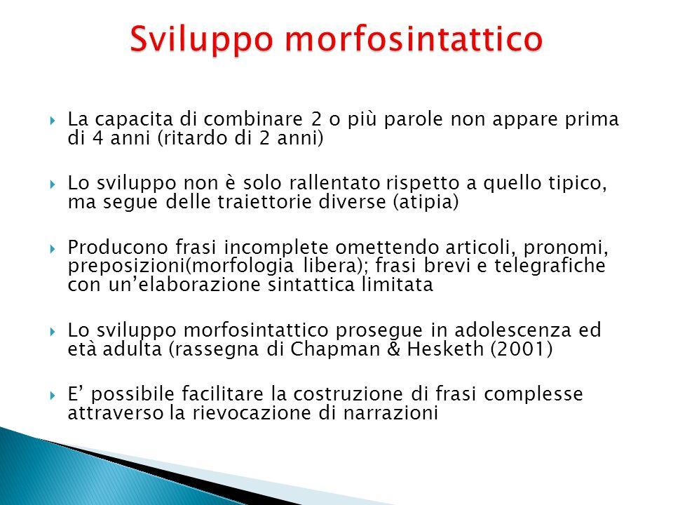 Sviluppo morfosintattico