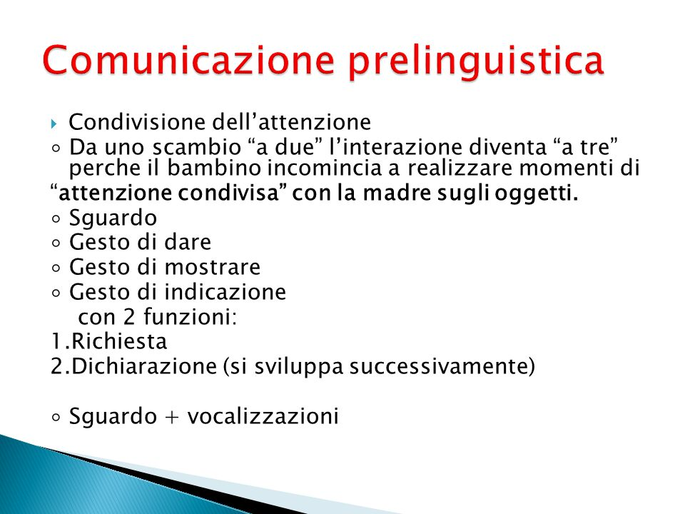 Comunicazione prelinguistica