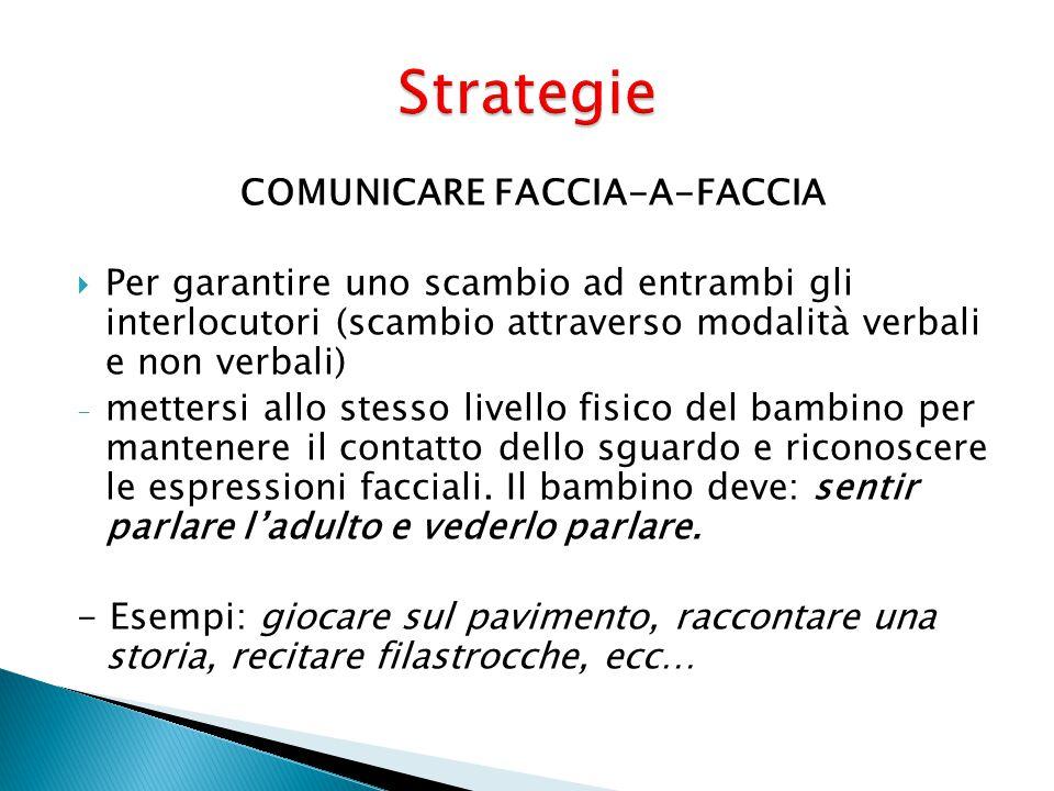 COMUNICARE FACCIA-A-FACCIA