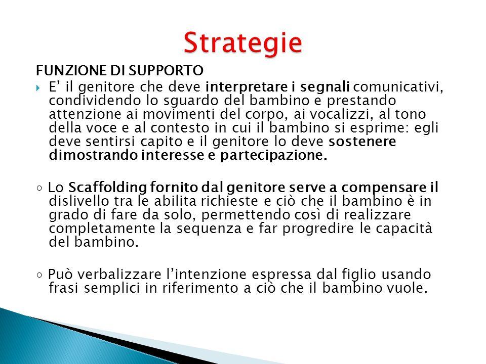 Strategie FUNZIONE DI SUPPORTO