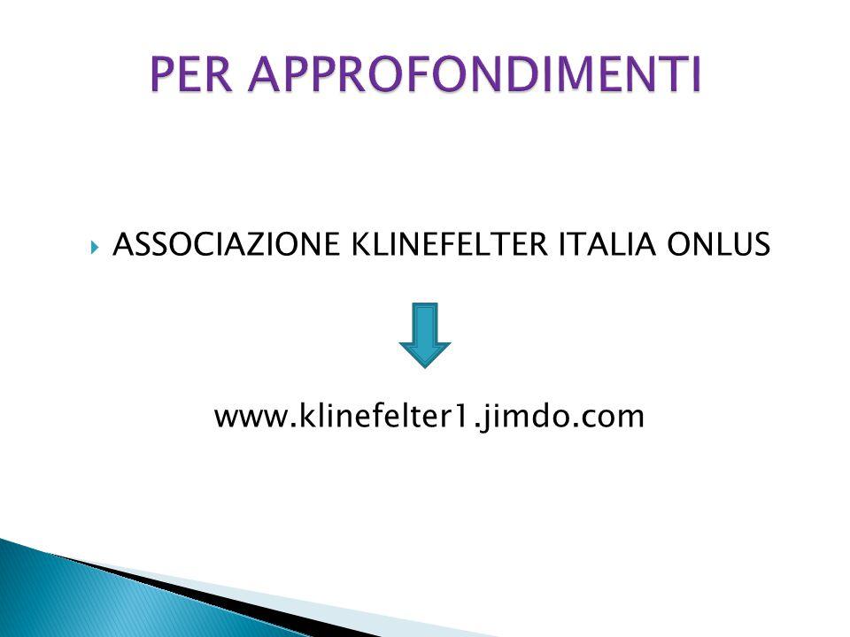 ASSOCIAZIONE KLINEFELTER ITALIA ONLUS