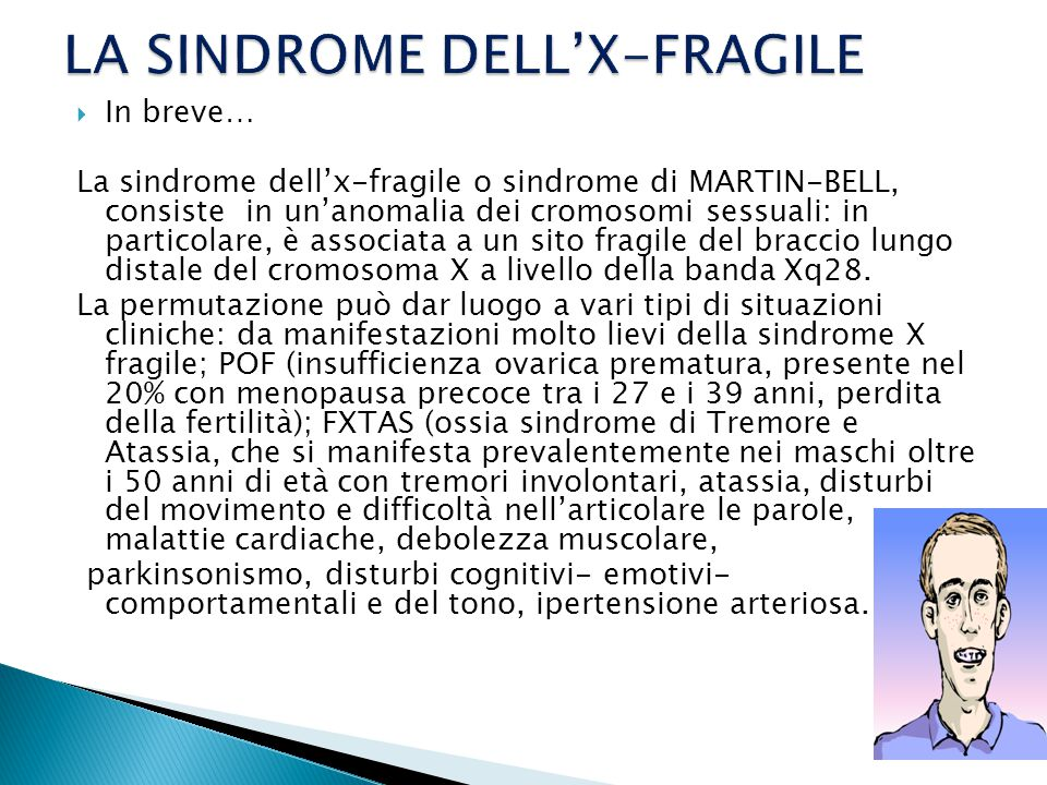 LA SINDROME DELL'X-FRAGILE