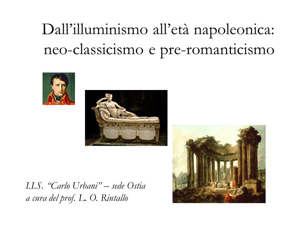 Dall'illuminismo all'età napoleonica: neo-classicismo e pre-romanticismo