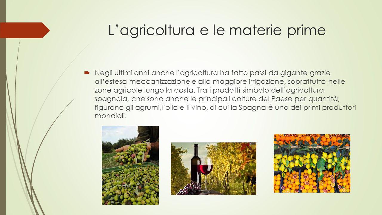 L'agricoltura e le materie prime