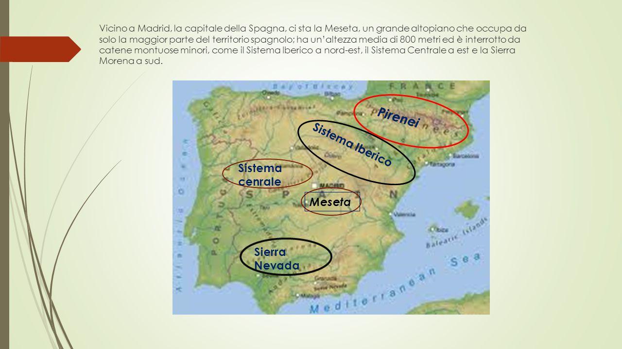 Pirenei Sistema Iberico Sistema cenrale Meseta Sierra Nevada