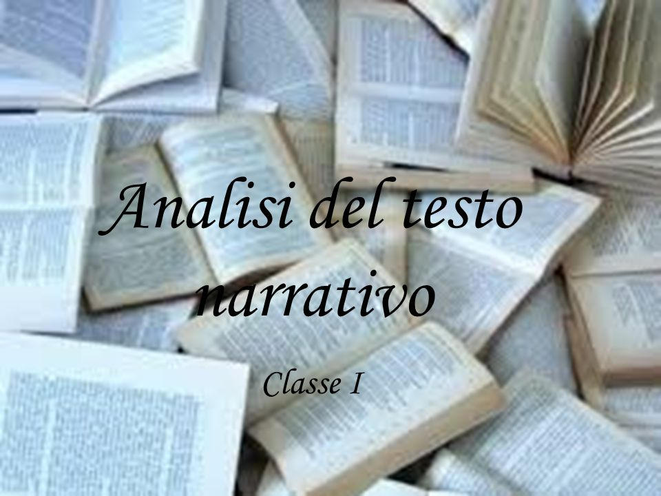 Analisi del testo narrativo