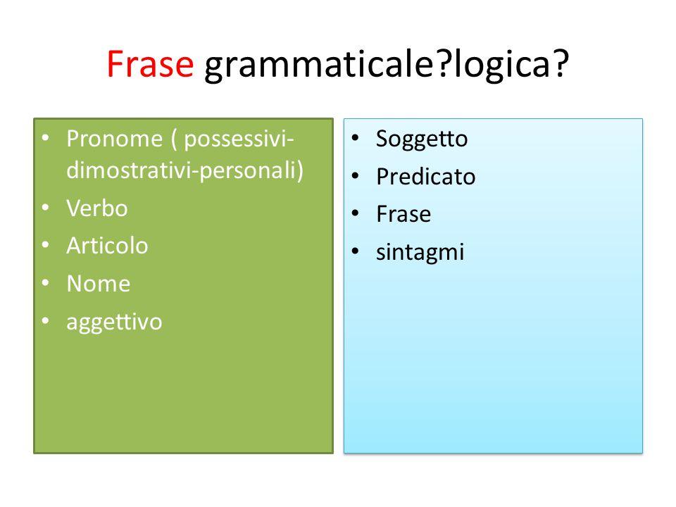 Frase grammaticale logica