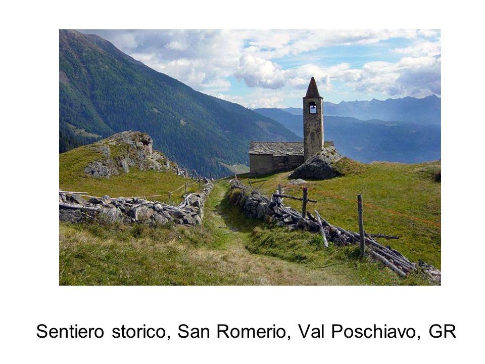 Sentiero storico, San Romerio, Val Poschiavo, GR