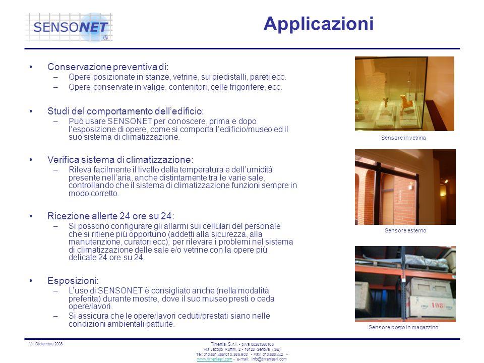 Applicazioni Conservazione preventiva di: