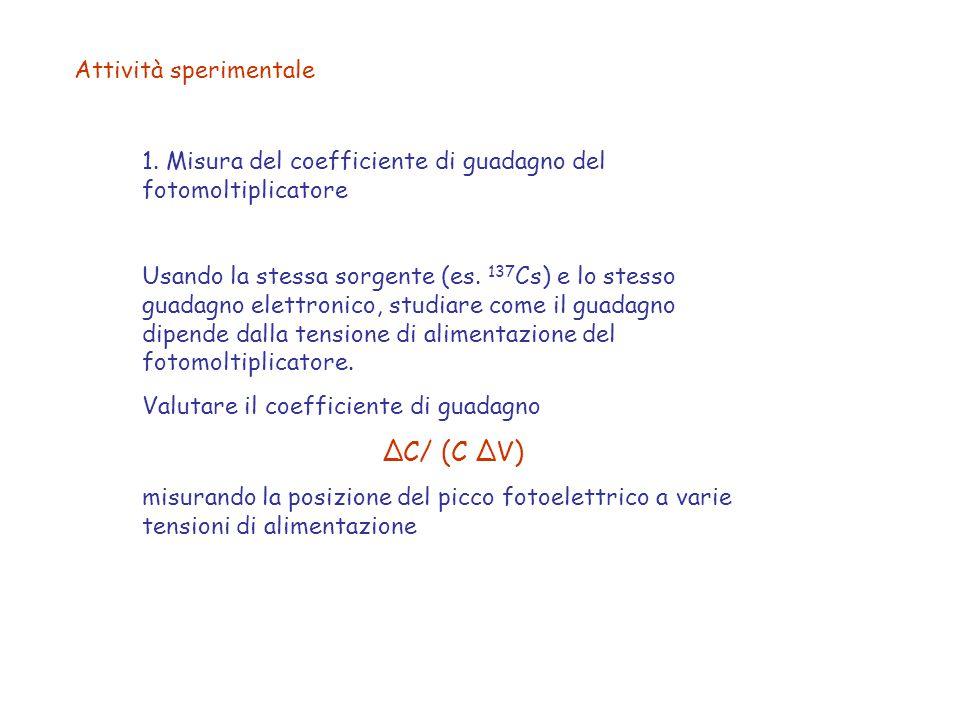 ΔC/ (C ΔV) Attività sperimentale