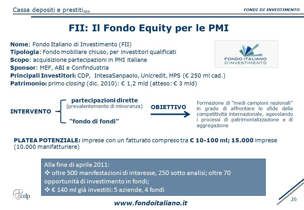 FII: Il Fondo Equity per le PMI