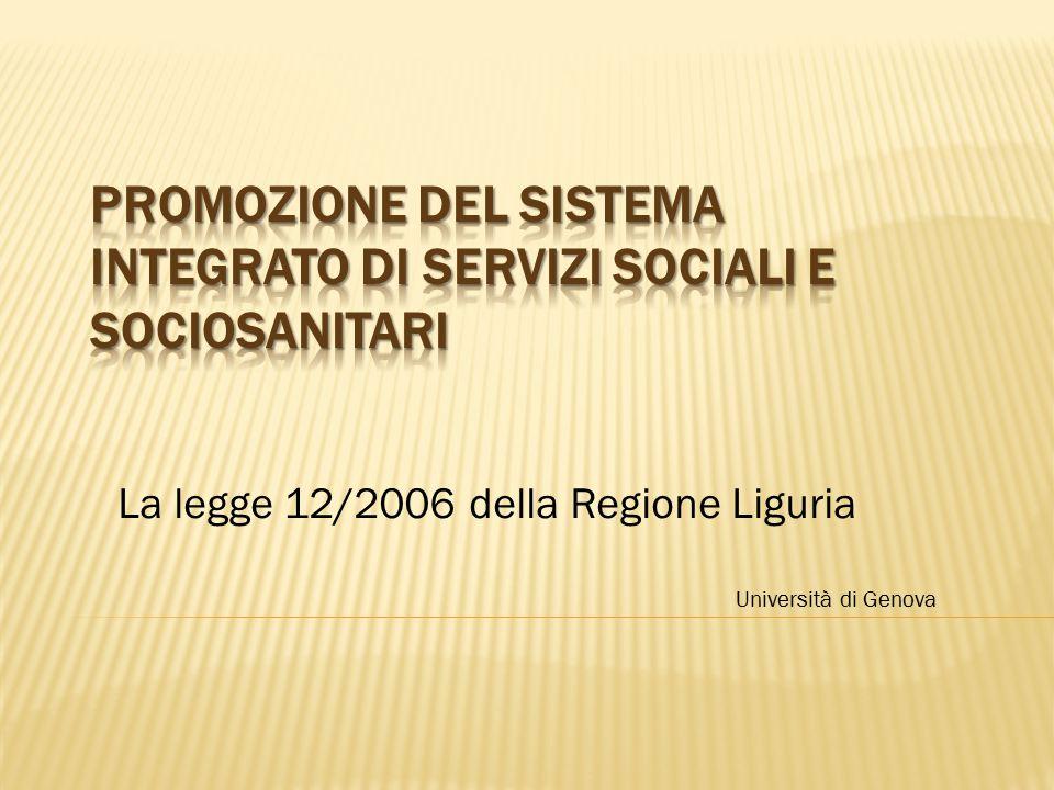 Promozione del sistema integrato di servizi sociali e sociosanitari