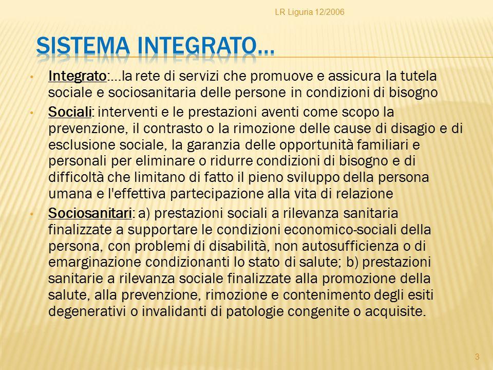 LR Liguria 12/2006 Sistema integrato…