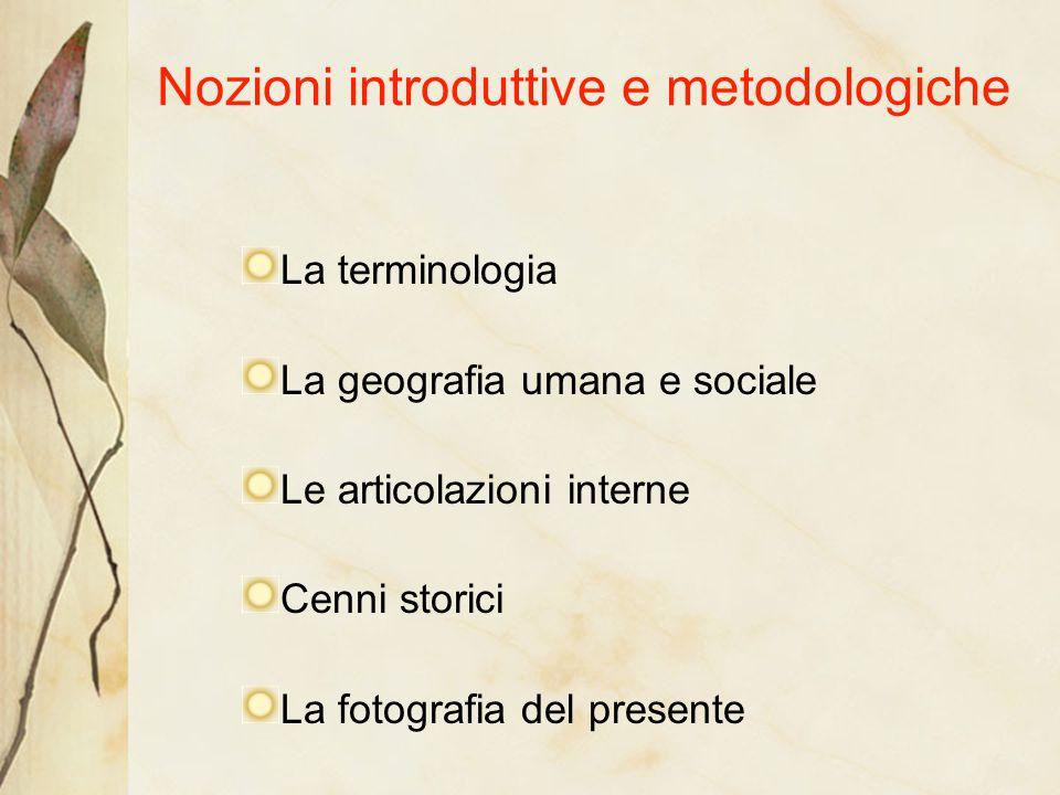 Nozioni introduttive e metodologiche