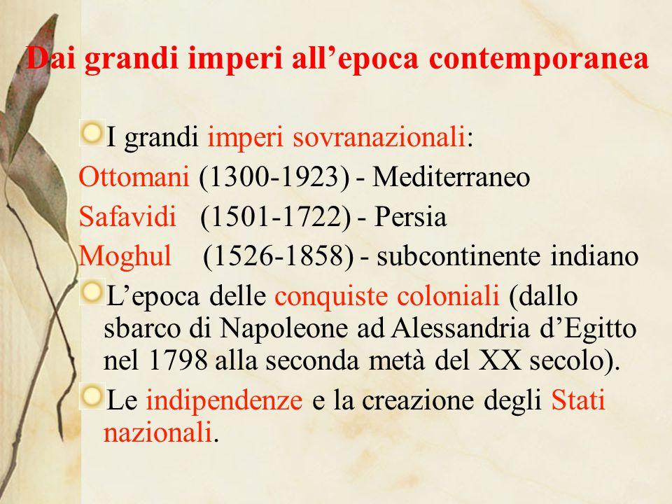 Dai grandi imperi all'epoca contemporanea
