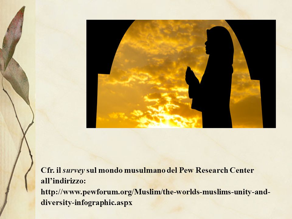 Cfr. il survey sul mondo musulmano del Pew Research Center all'indirizzo: