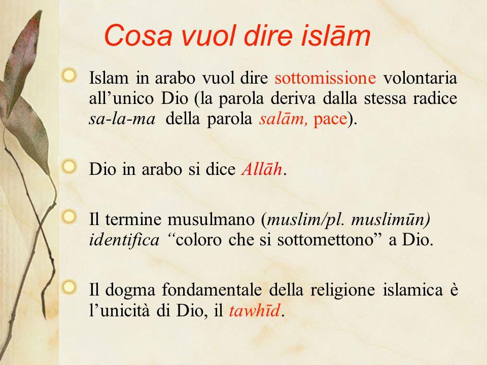 Cosa vuol dire islām