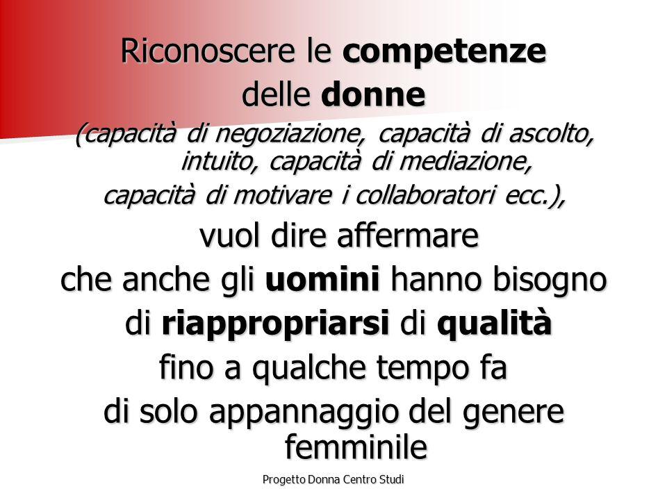 Riconoscere le competenze delle donne