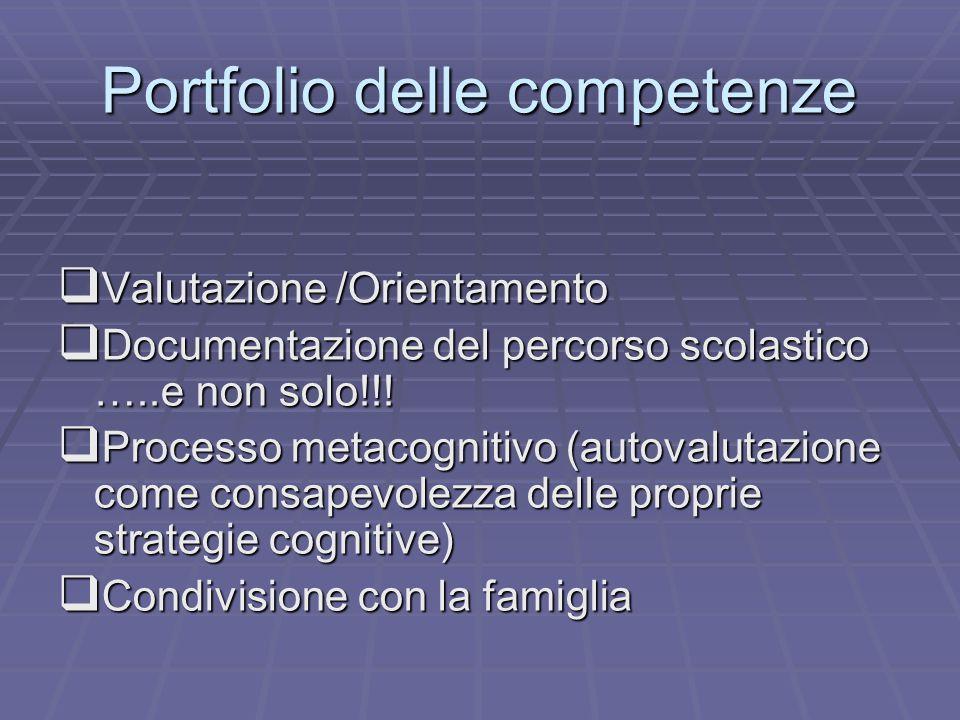 Portfolio delle competenze