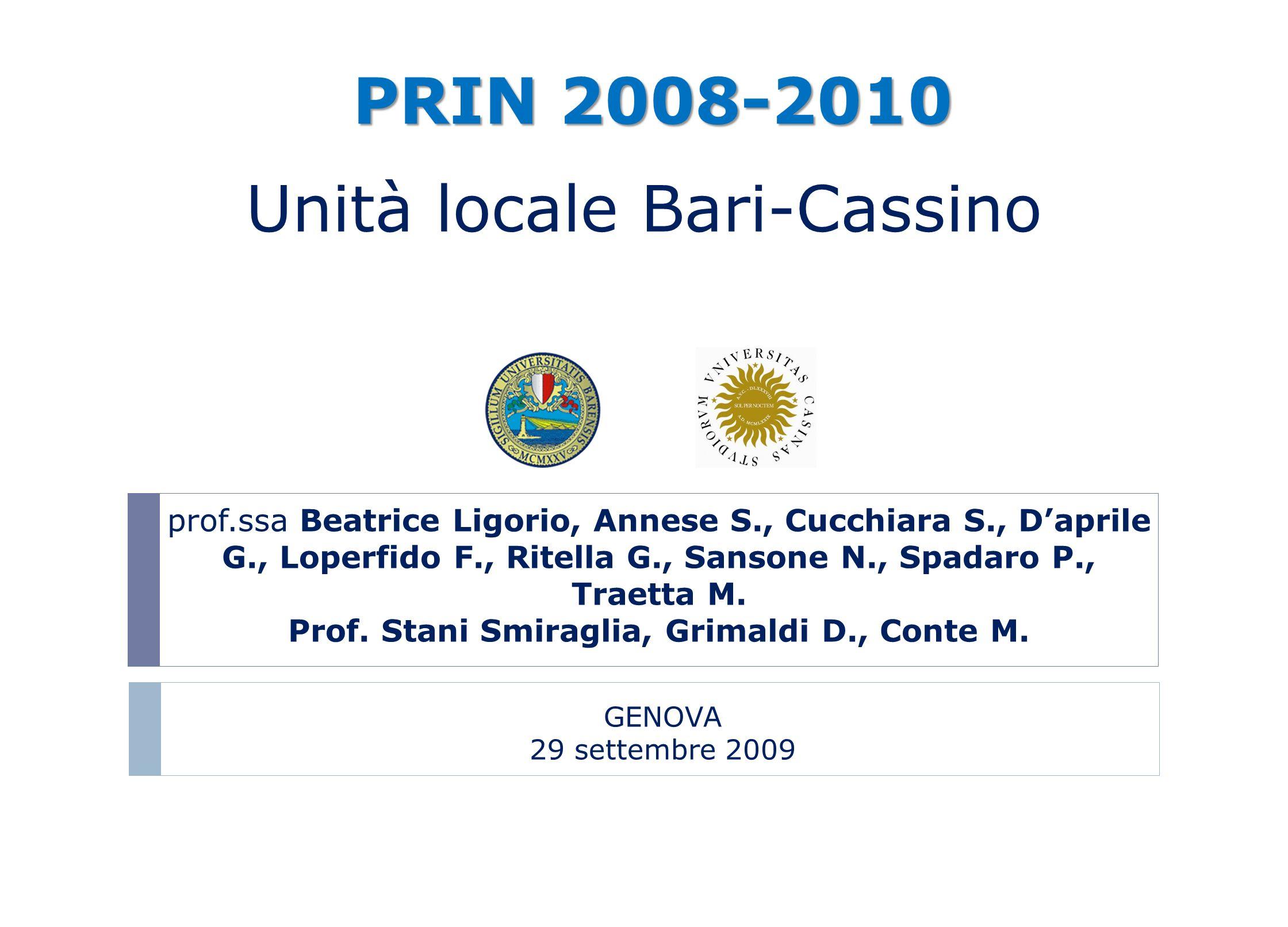 Prof. Stani Smiraglia, Grimaldi D., Conte M.