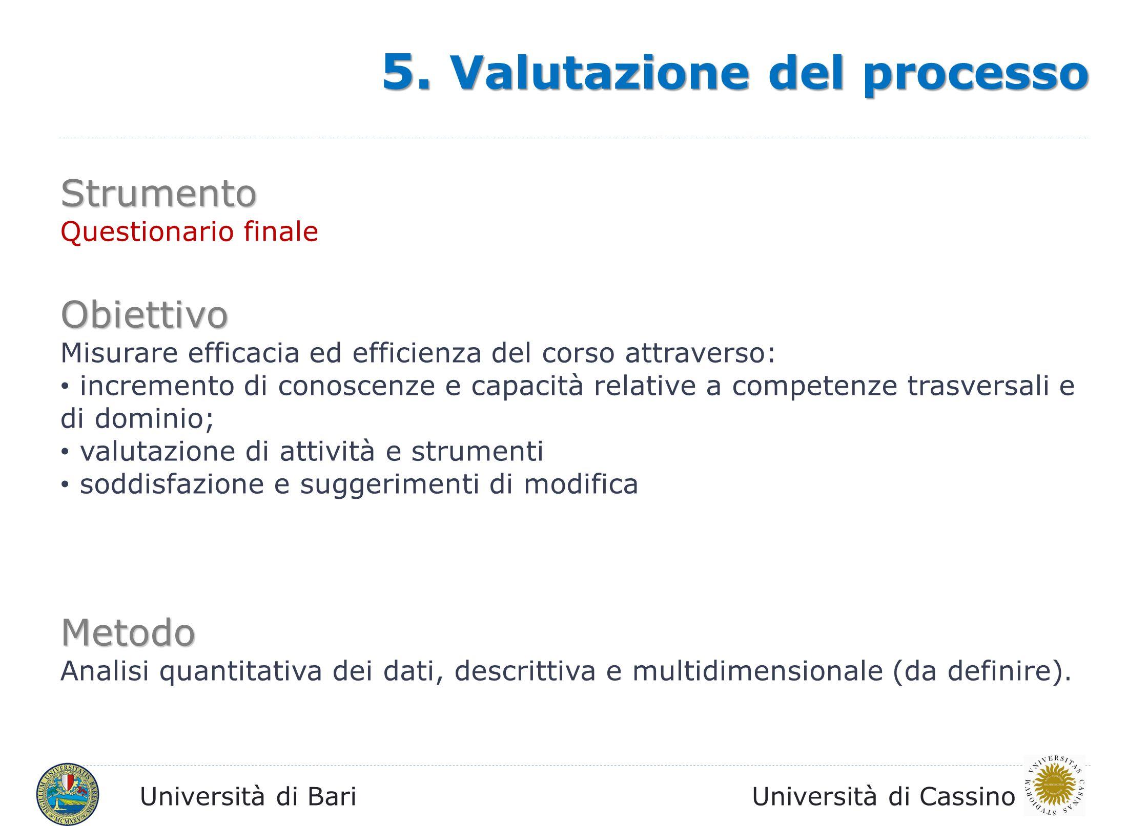 5. Valutazione del processo