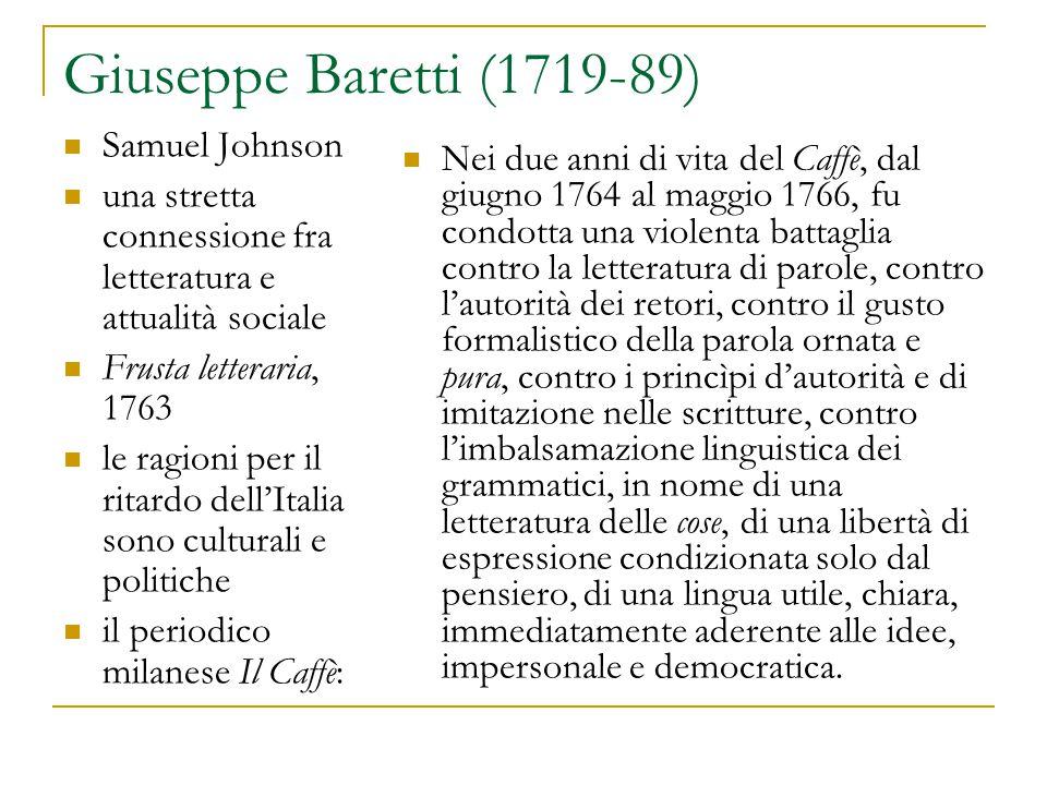 Giuseppe Baretti (1719-89) Samuel Johnson