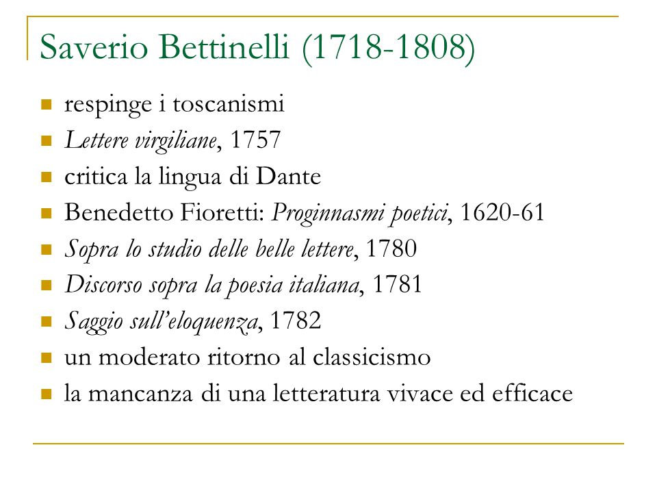 Saverio Bettinelli (1718-1808)