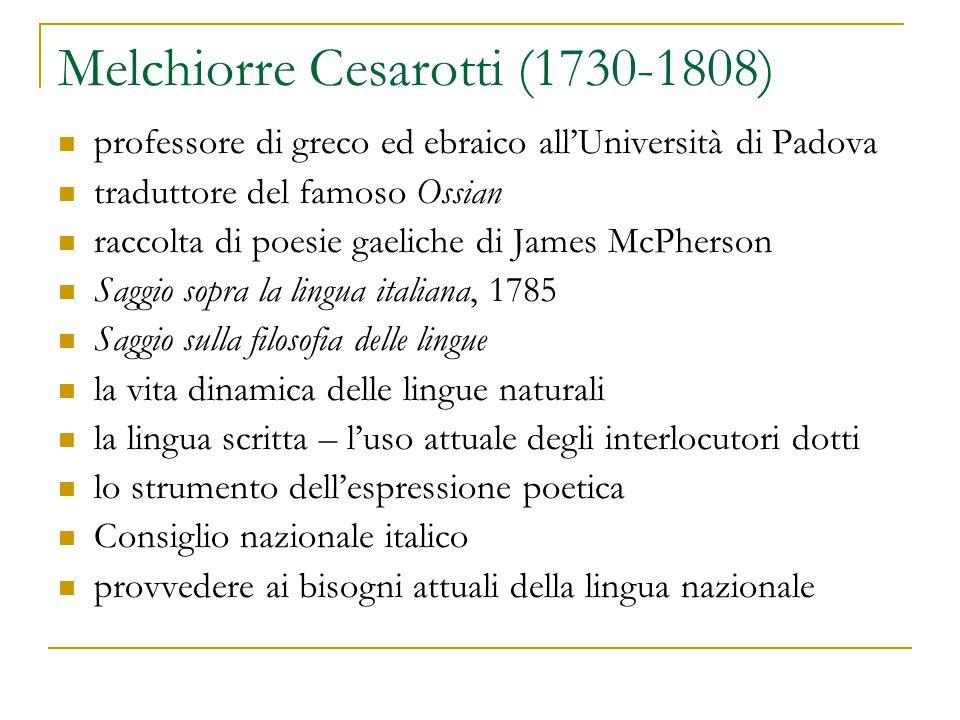 Melchiorre Cesarotti (1730-1808)