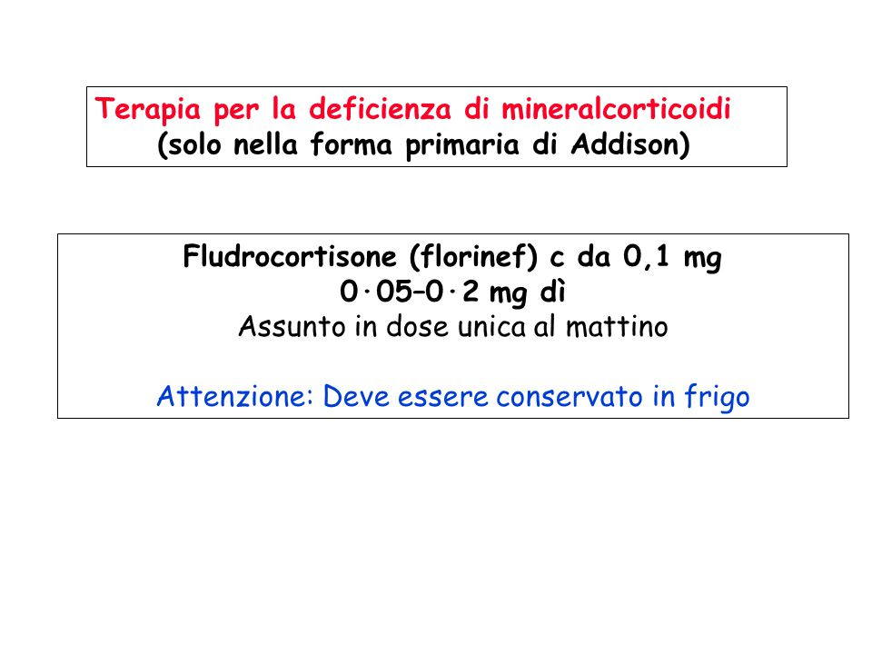 Fludrocortisone (florinef) c da 0,1 mg