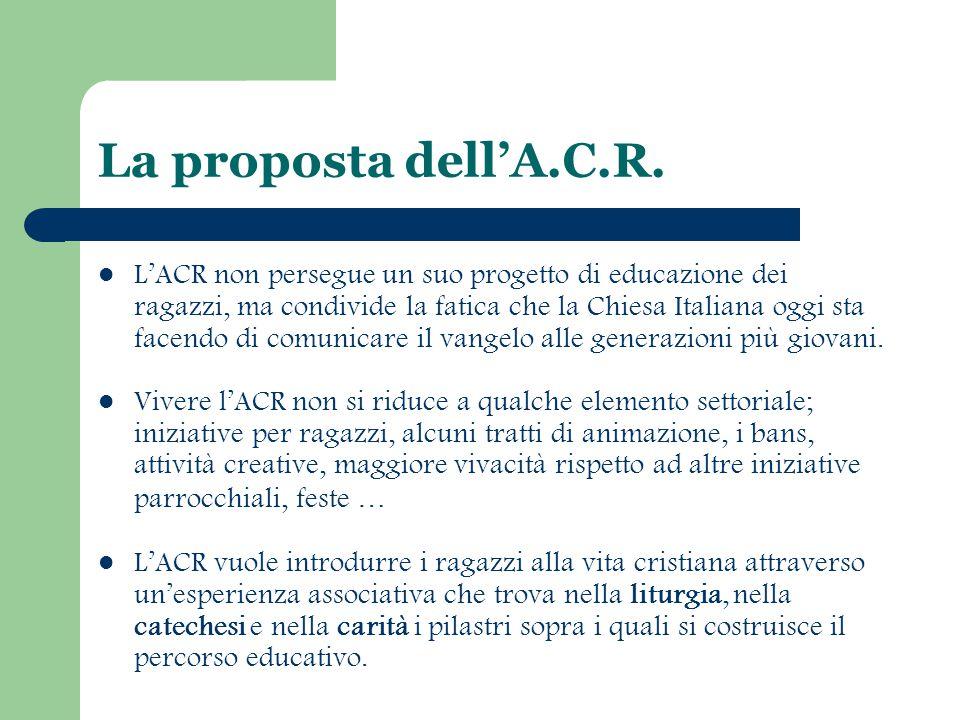La proposta dell'A.C.R.