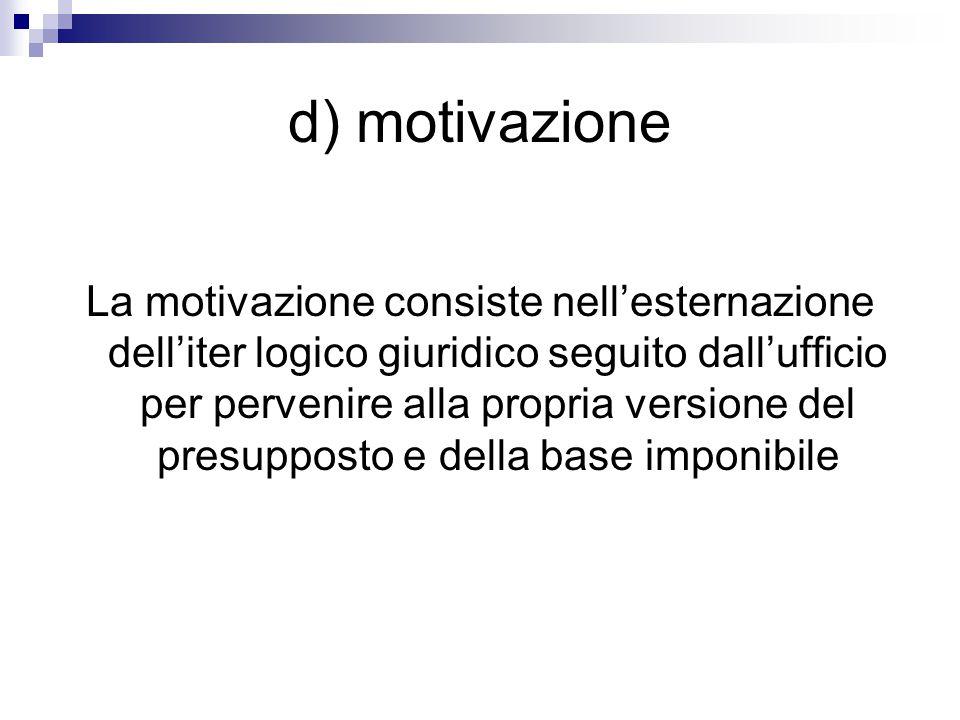 d) motivazione