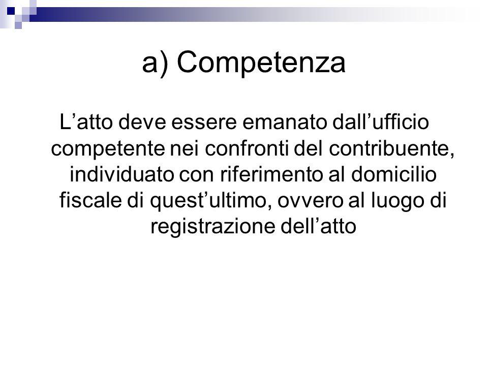 a) Competenza