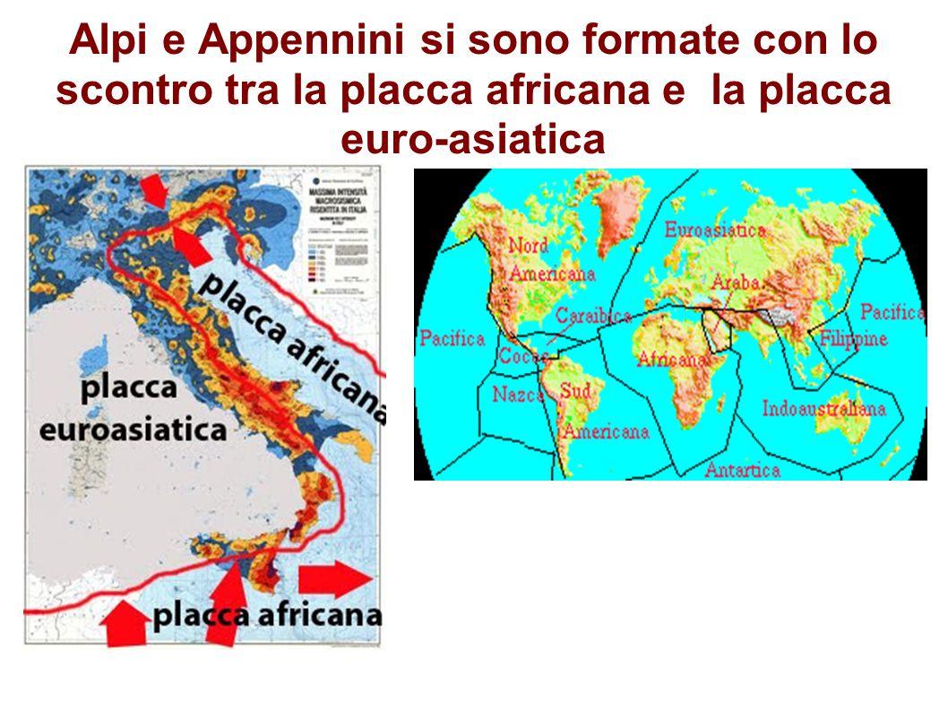 Alpi e Appennini si sono formate con lo scontro tra la placca africana e la placca euro-asiatica