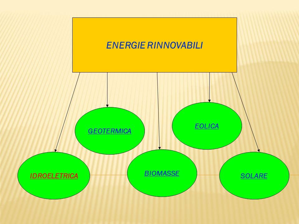 ENERGIE RINNOVABILI EOLICA GEOTERMICA BIOMASSE IDROELETRICA SOLARE