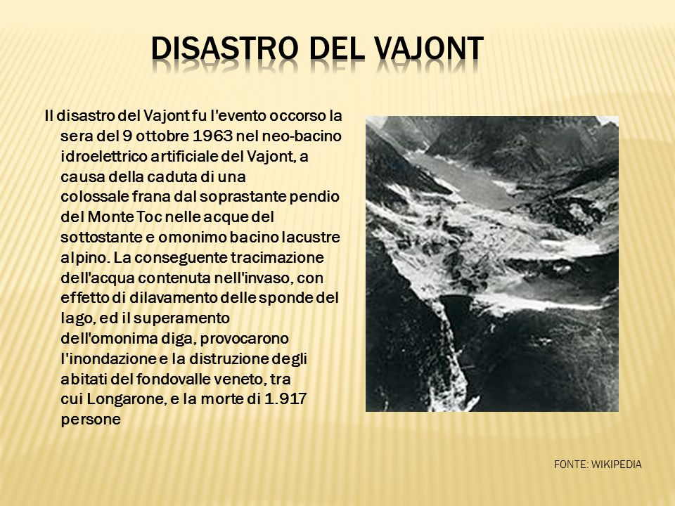DISASTRO DEL VAJONT