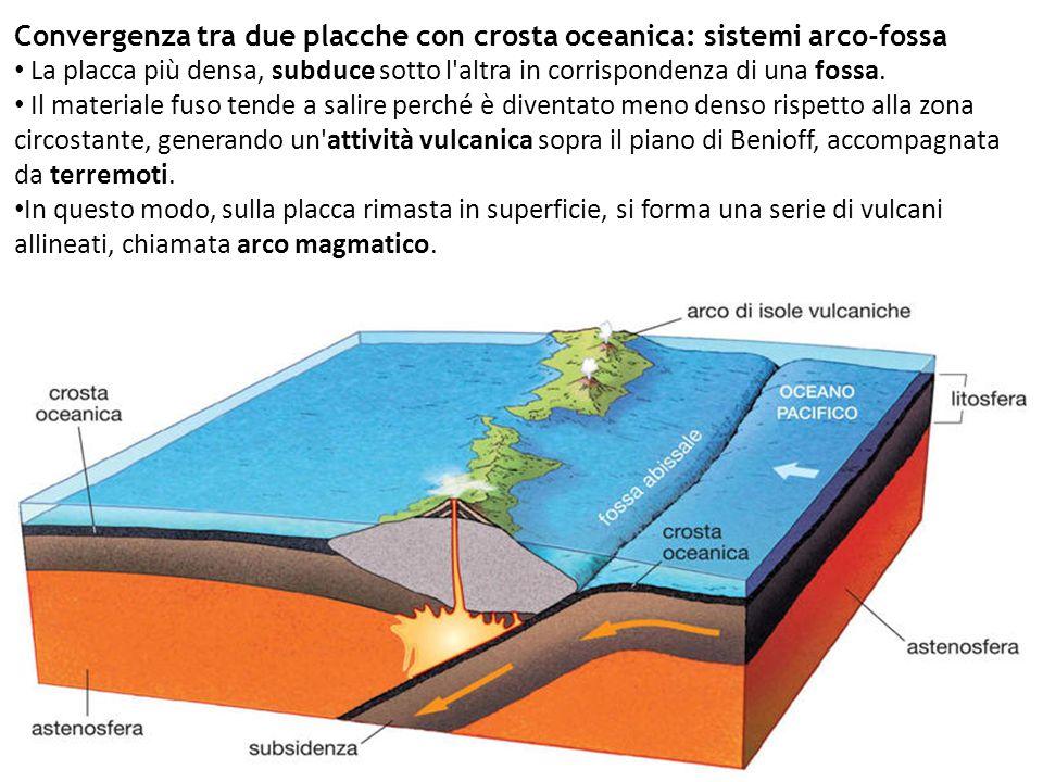 Convergenza tra due placche con crosta oceanica: sistemi arco-fossa