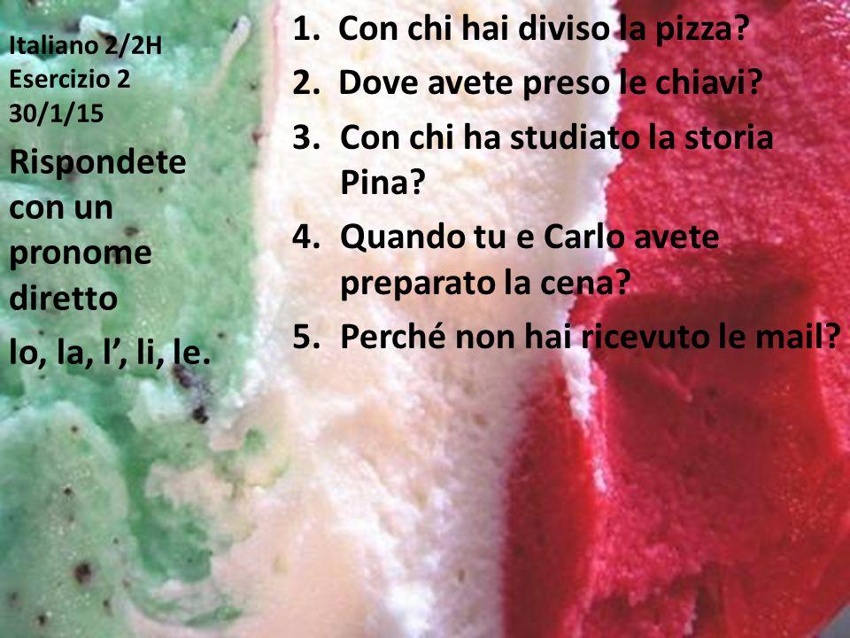 Italiano 2/2H Esercizio 2 30/1/15