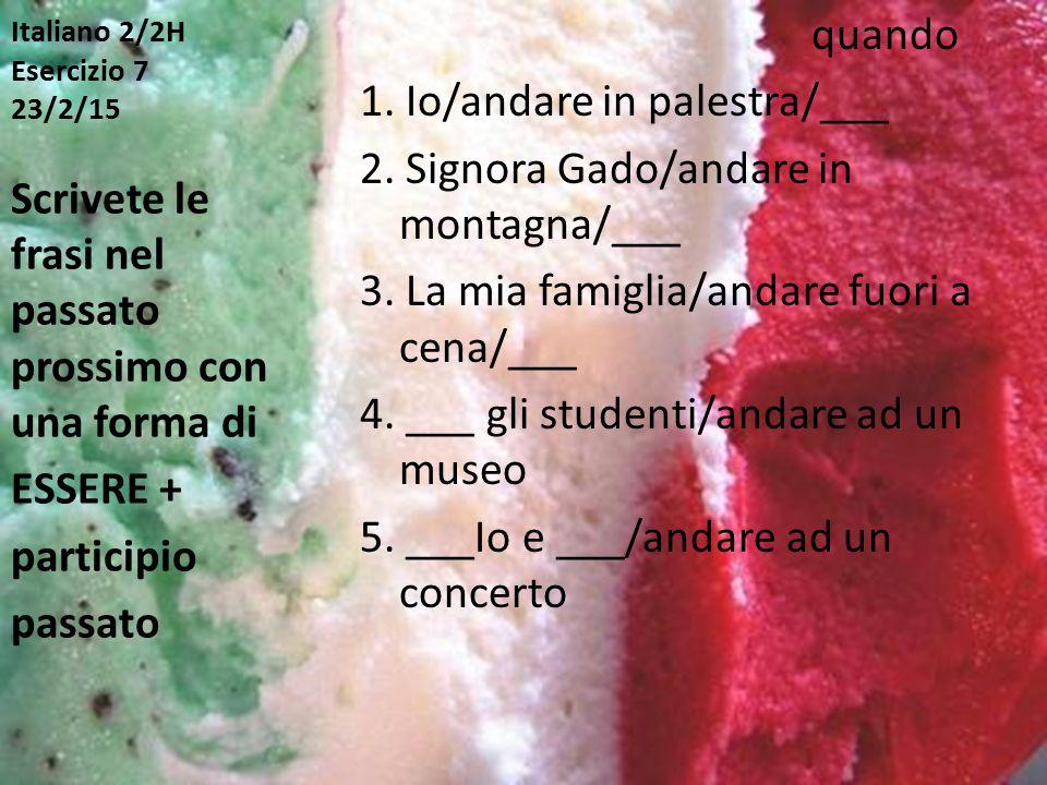 Italiano 2/2H Esercizio 7 23/2/15