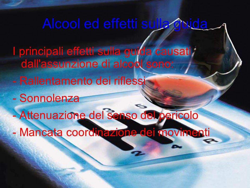 Alcool ed effetti sulla guida