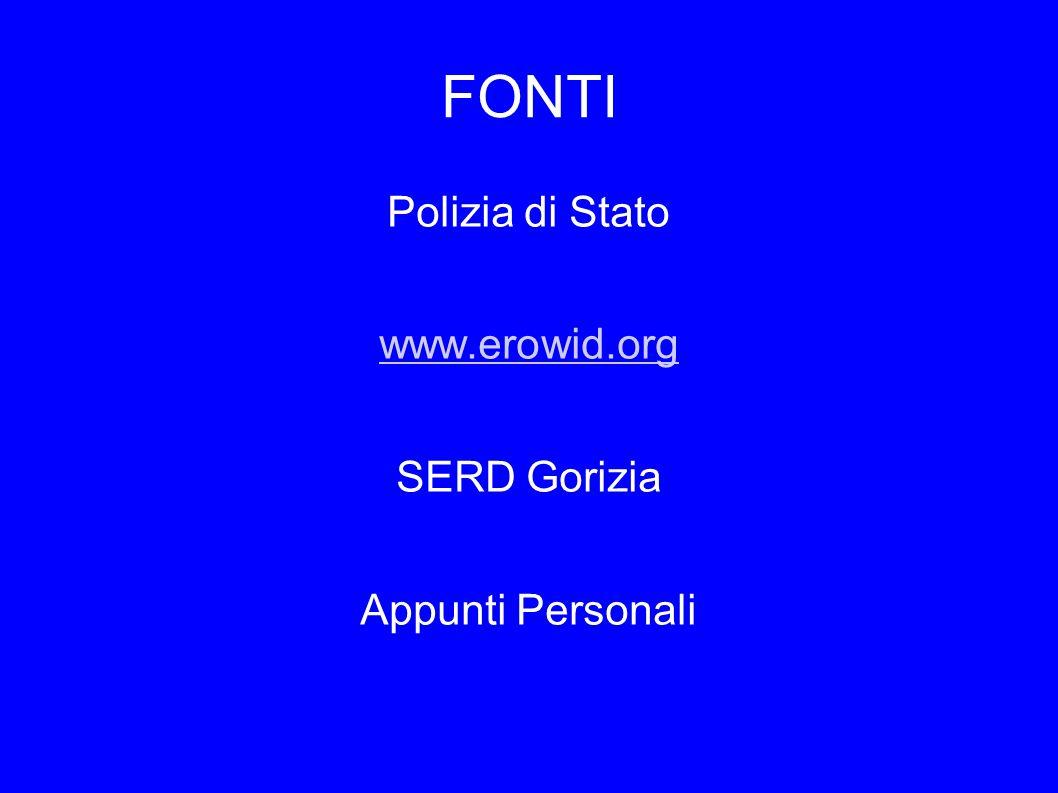 Polizia di Stato www.erowid.org SERD Gorizia Appunti Personali