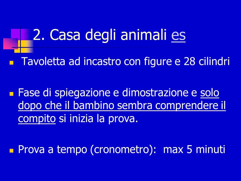 2. Casa degli animali es Tavoletta ad incastro con figure e 28 cilindri.