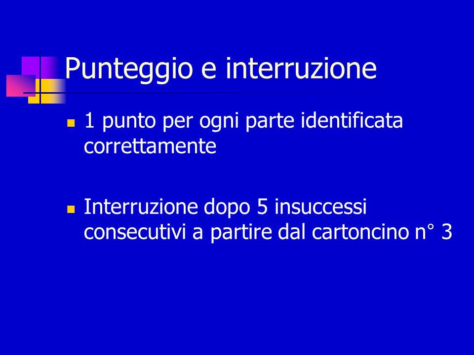 Punteggio e interruzione