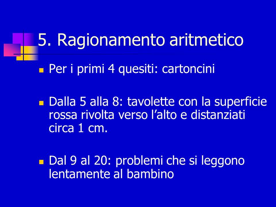 5. Ragionamento aritmetico