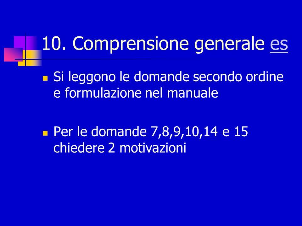 10. Comprensione generale es