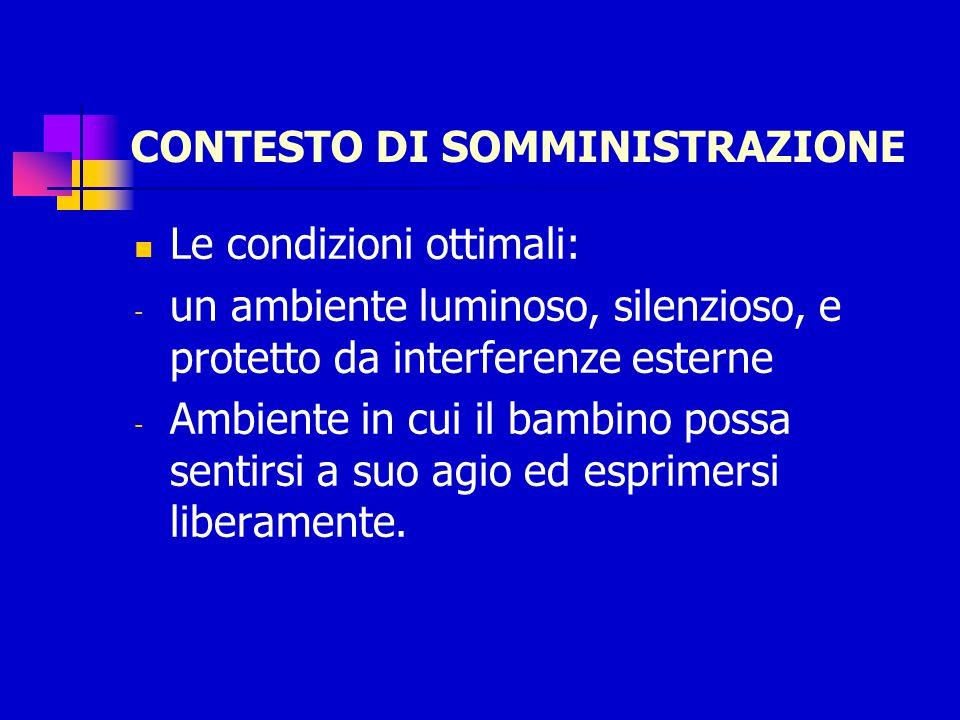 CONTESTO DI SOMMINISTRAZIONE